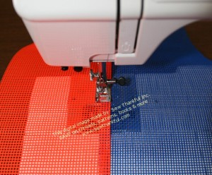 """Run a 2nd top stitch line parallel to and approximately 1/4"""" from the first top stitching."""