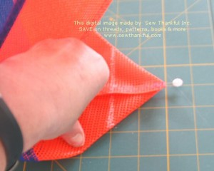 "Mark a line 2"" from the point of the side seam."