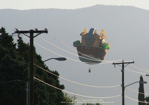 The Ark Balloon facing Sandia Mountain