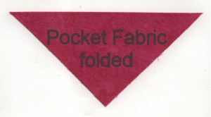 Pocket Fabric Folded and pressed