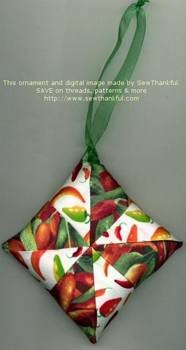 Fabric Ornaments Patterns : Sew Thankful Blog fabric ornament pattern