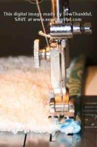 Finish binding stitches