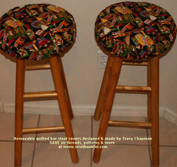 Sew Thankful Blog » Blog Archive » Removable Quilted Backless Bar Stool Covers u2014 DONE! & Sew Thankful Blog » Blog Archive » Removable Quilted Backless Bar ... islam-shia.org