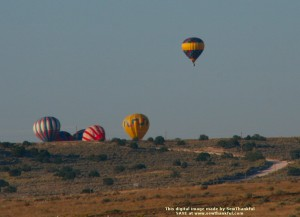 Balloons launching on the mesa in Rio Rancho