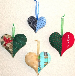Havf a Heart fabric ornament sewing pattern