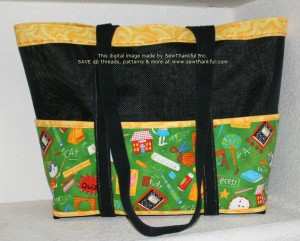 A gift for Jared's teacher.  Her bag also features longer straps.