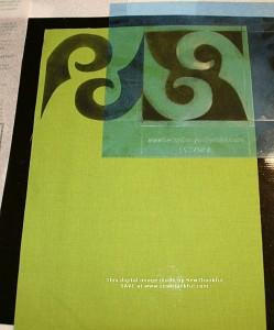 Design Magic - Scroll Stencil Process #1
